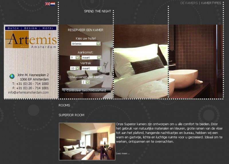 Hotel artemis bijzondere overnachtingen for Design hotel zeeland